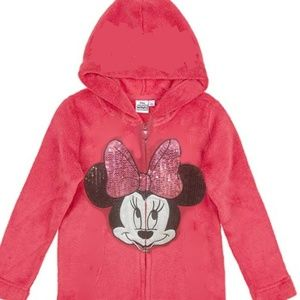 Girls Minnie Mouse Full Zip Hoodie size 6x